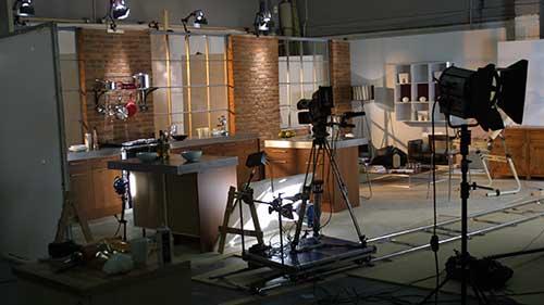 Corporate Video Rayburn studio set
